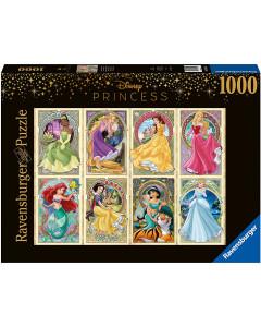 Disney - Puzzle 1000 pièces Princesses Art Nouveau