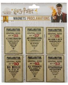 Harry Potter - Set de 6 aimants Proclamations