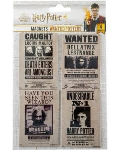 Harry Potter - Set de 4 aimants Wanted Harry, Lucius, Bellatrix & Sirius
