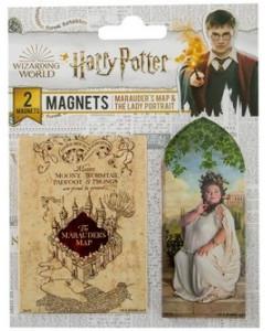 Harry Potter - Set de 2 aimants Marauder's Map & Dame du Portrait
