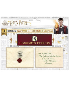 Harry Potter - Set de 3 aimants Lettre Hogwarts & Platform 9 3/4