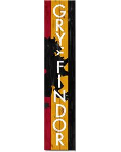 Harry Potter - Plaque déco Gryffondor pour extérieur (20 x100 cm)