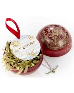 Harry Potter - Boule de sapin de Noël Golden Snitch (avec collier)