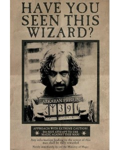Harry Potter - grand poster Sirius Black Wanted