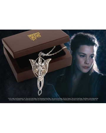 Lord of the Rings - réplique argent massif du pendentif d'Arwen