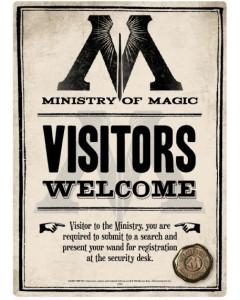 Harry Potter - Panneau métallique Ministry of Magic