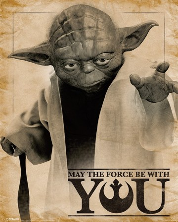 Star Wars - poster Yoda May the Force Be With You