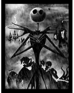 Nightmare Before Christmas - poster encadré Jack Storm