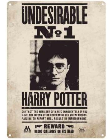 Harry Potter - Panneau métallique Undesirable No 1