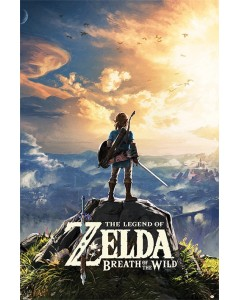 Zelda - Grand poster Breath of the Wild (Sunset)