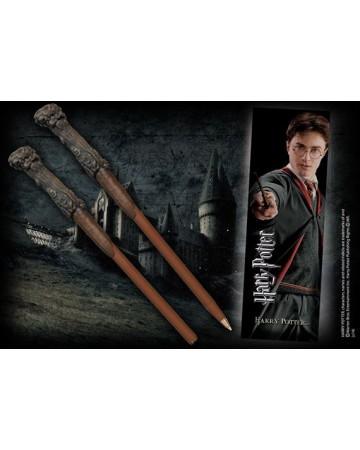 Harry Potter - Stylo baguette + marque-page Harry